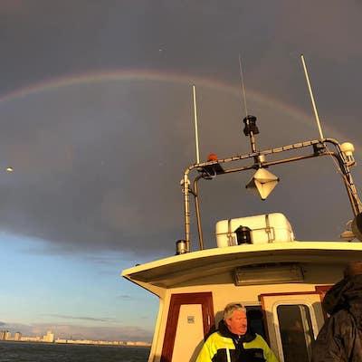 regenboog tijdens vistrip